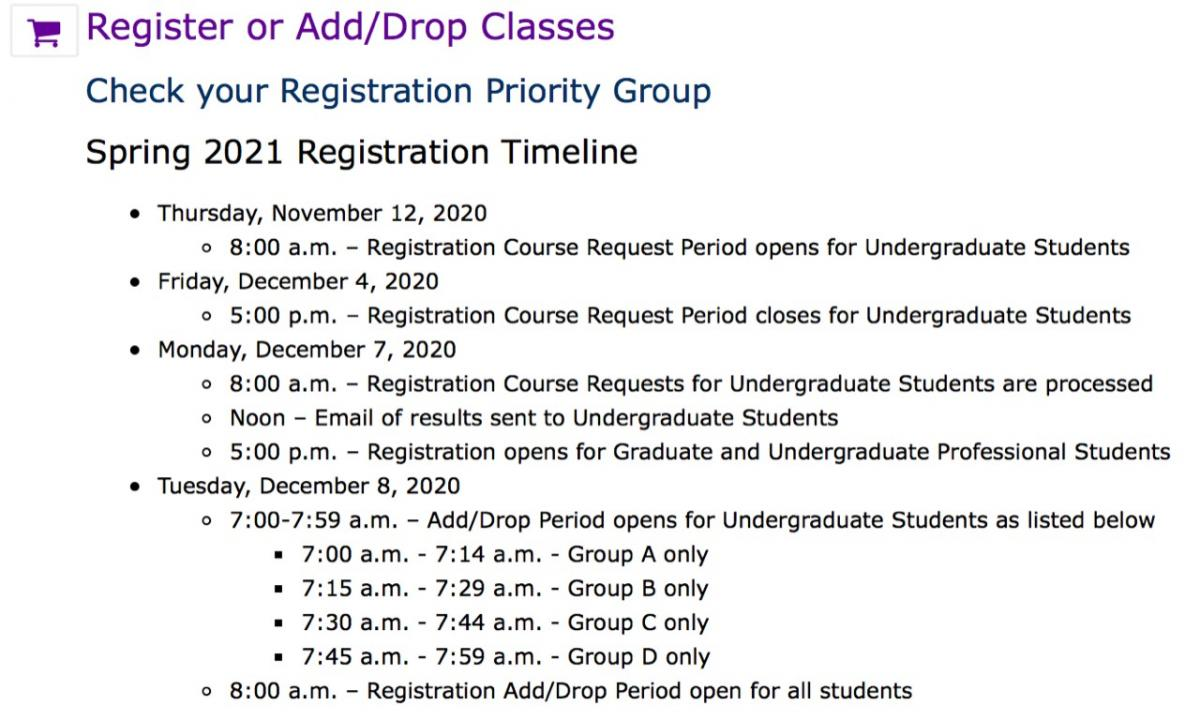 Spring 2021 Registration: Graduate Students | Office of the